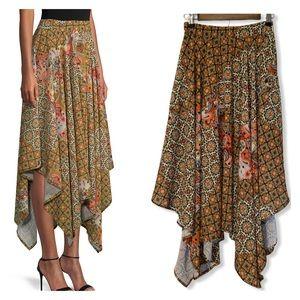 Free People Handkerchief Skirt Stay Awhile Print